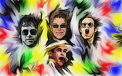 Elton John Digital Art - Captain Fantastic by GR Cotler