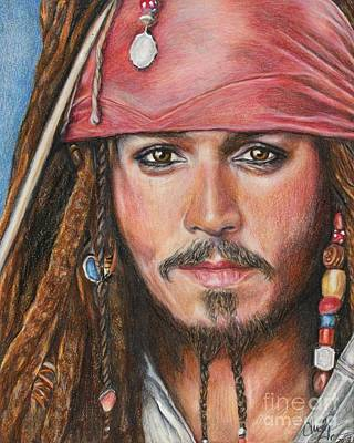 Drawing - Captain Jack by Christine Jepsen