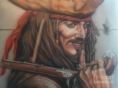 Captain Jack Sparrow Painting - Captain Jack by Daniel Livingston