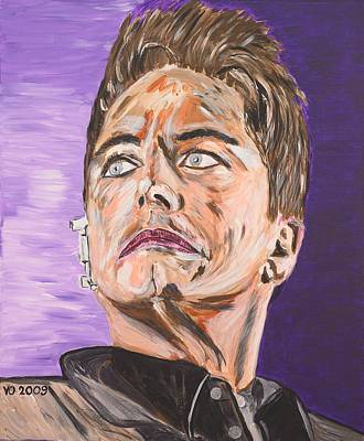 Painting - Captain Jack Harkness by Valerie Ornstein