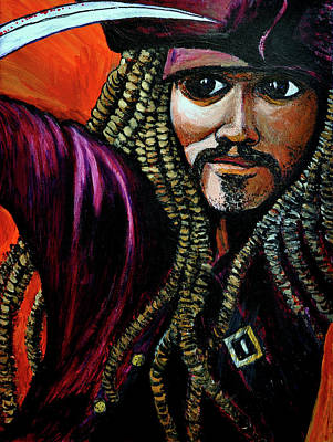 Captain Jack Sparrow Print by Bob Crawford
