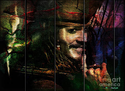 Mayfield Mixed Media - Captain Jack Sparrow by Christine Mayfield