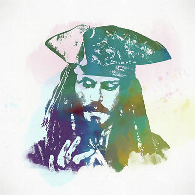 Of Pirate Ship Painting - Captain Jack Sparrow by Dan Sproul