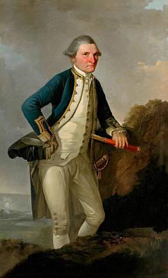 Captain James Cook Portrait  Art Print by War Is Hell Store