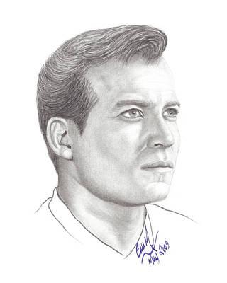 Captain James T. Kirk Art Print by Eve Marshall