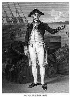 Painting - Captain John Paul Jones by Historic Image