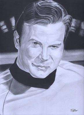 Captain Kirk Art Print by Robert Steen