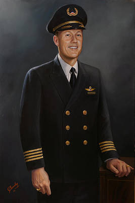 Painting - Captain Max Livingston by Glenn Beasley