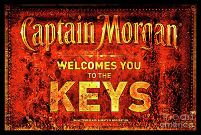 Photograph - Captain Morgan Welcome Florida Keys by John Stephens