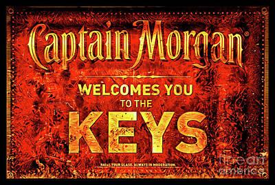 Captain Morgan Welcome Florida Keys Art Print