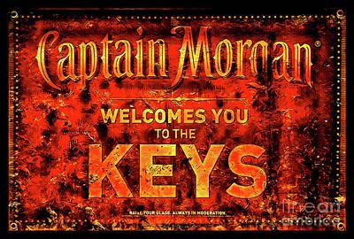 Captain Morgan The Florida Keys Art Print