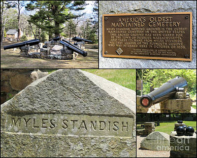 Photograph - Captain Myles Standish Gravesite  by Janice Drew