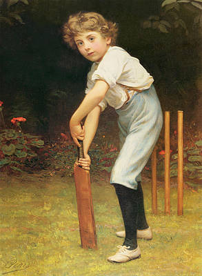 Cricket Painting - Captain Of The Eleven by Philip Hermogenes Calderon