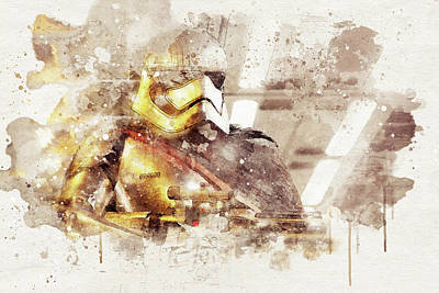 First Star Drawing - Captain Phasma - Star Wars by Jeffrey St Romain