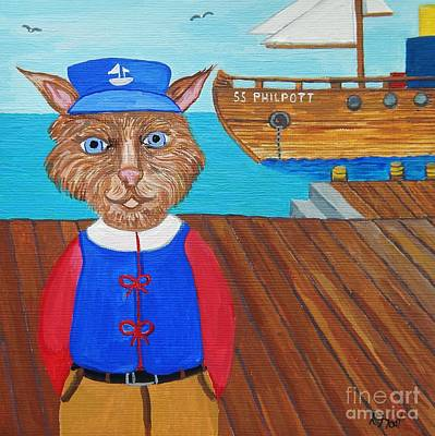 Painting - Captain Philpott by Reb Frost