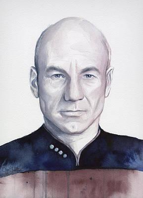 Captain Picard Print by Olga Shvartsur