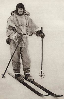 Terra Drawing - Captain Robert Falcon Scott, 1868 To by Vintage Design Pics