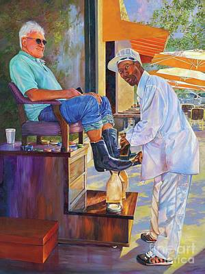 Painting - Captain Shoe Shine by AnnaJo Vahle