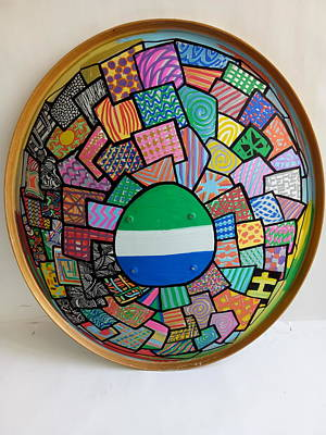 Painting - Captain Sierra Leone Shield -02 by Mudiama Kammoh