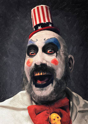The Haunted House Painting - Captain Spaulding by Taylan Apukovska
