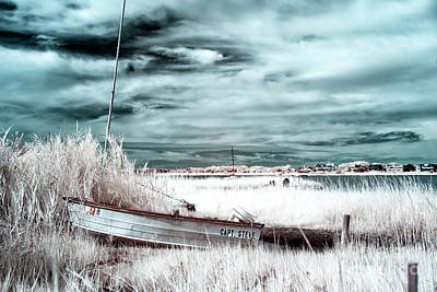 Photograph - Captain Steve Blue Infrared At Long Beach Island by John Rizzuto