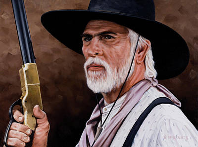Old West Drawing - Captain Woodrow F Call by Rick McKinney