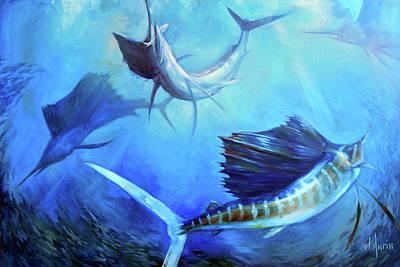 Marine Life Painting - Captain's Dream by Tom Dauria