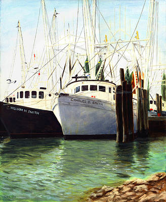 Painting - Captains Smith Morehead City North Carolina Original Fine Art Oil Painting by G Linsenmayer