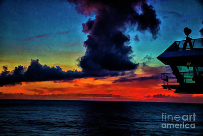 Photograph - Captains Sunset by Rick Bragan