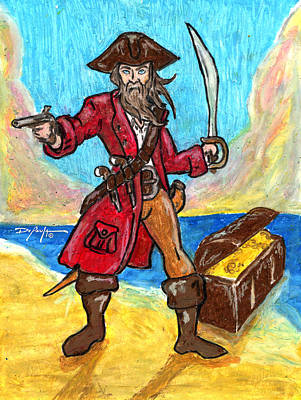 Captain's Treasure Art Print by William Depaula