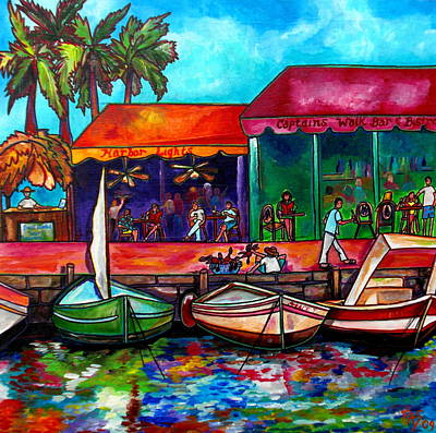 Colorful Boats Wall Art - Painting - Captains Walk by Patti Schermerhorn