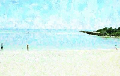 Mixed Media - Captiva Beach Blind Pass by Florene Welebny