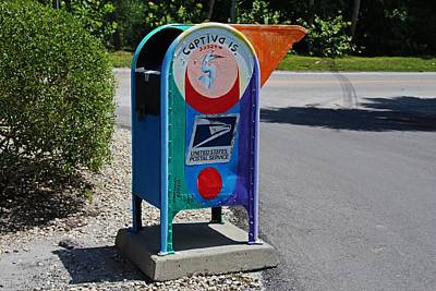 Photograph - Captiva Island Mailbox- Horizontal by Michiale Schneider