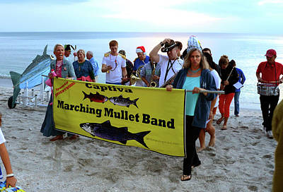Photograph - Captiva Mullet Marching Band by David Lee Thompson