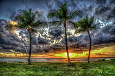 Photograph - Captivating Sunset Maili Beach Park Pokai Bay Oahu Hawaii Collection Art by Reid Callaway