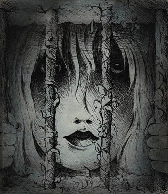 Drawing - Captive I by Rachel Christine Nowicki
