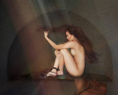 Digital Art -  Captive Of Her Own Mind by Terry Fleckney