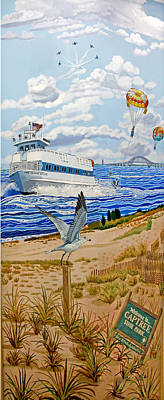 Angel Island State Park Painting - Captree Park by Bonnie Siracusa