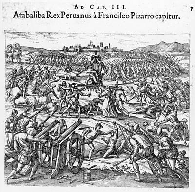 Capture Of Atahualpa, 1532 Art Print