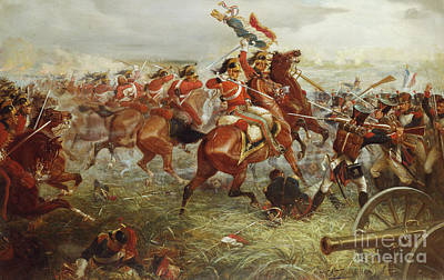 French Defeat Painting - Capture Of The Eagle, Waterloo, 1898  by William Holmes Sullivan