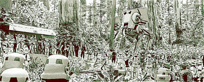 Digital Art - Capture On Endor by Kurt Ramschissel