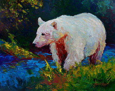 Salmon Painting - Capture The Spirit by Marion Rose