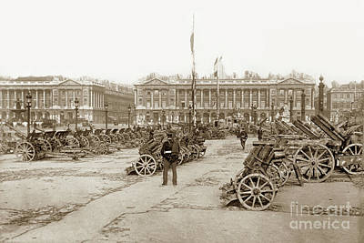 Photograph - Captured German Artillery In Paris, France 1918 by California Views Mr Pat Hathaway Archives
