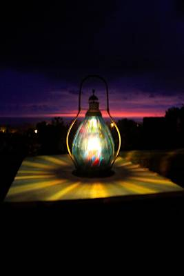 Hurricane Lamps Photograph - Captured Glow  by Kimberly Reeves