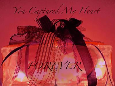 Captured My Heart Card Art Print by Debra     Vatalaro