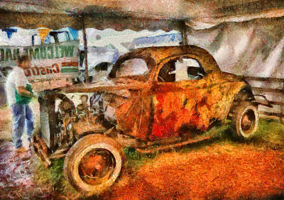 Car - At The Car Show Art Print