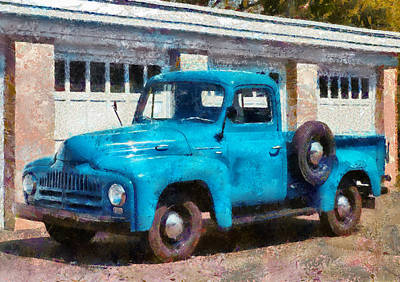 Car - Truck - An International Old Truck Art Print by Mike Savad