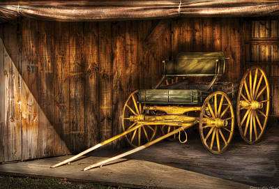 Car - Wagon - The Old Wagon Art Print by Mike Savad