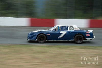 Photograph - Car 7 In The Turn. by Wayne Wilton