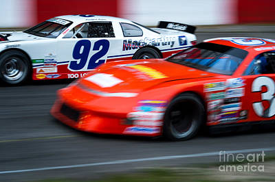 Photograph - Car 92 Passes The Competition by Wayne Wilton